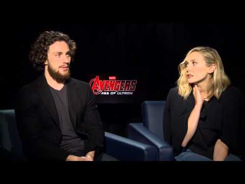 Elizabeth Olsen & Aaron Taylor Johnson on House of M, Quicksilver & More | Avengers 2: Age of Ultron
