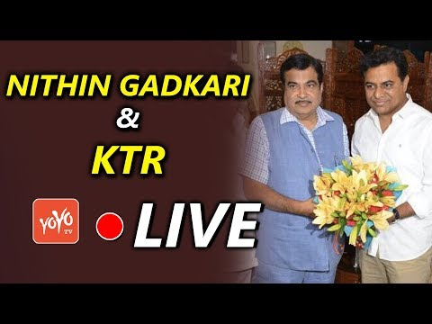 Gadkari Laying Foundation Stone for NH Projects LIVE | KTR LIVE | Telangana | YOYO TV Channel