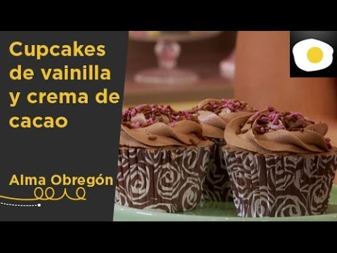 Cupcakes de vainilla y crema de cacao (Receta) | Especial Cupcakes