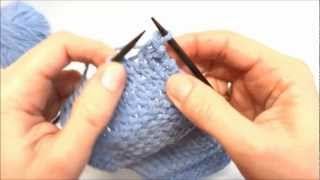 Maschen abketten einfach - Basic cast off - Stricken lernen - Learn how to knit