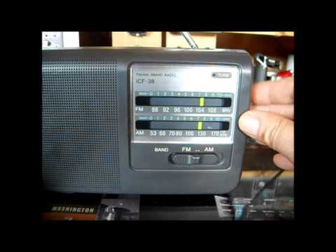SONY ICF 38  Portable AM FM Radio  (REVIEW )