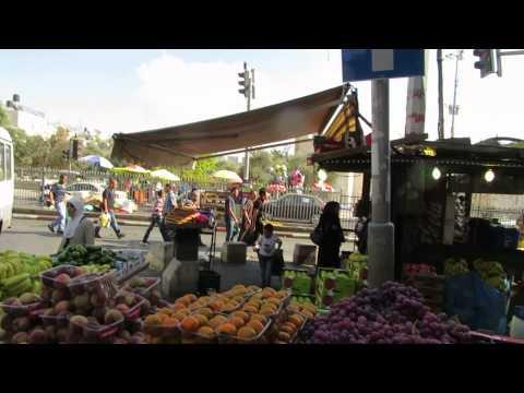 The Market near Damascus (Jerusalem) Gate during the Muslim holiday - Eid al-Adha (عيد الأضحى)