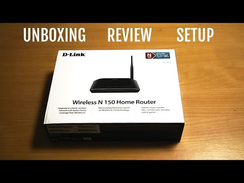 D - LINK WIRELESS N 150 ROUTER DIR 600M unboxing. Review. Setup