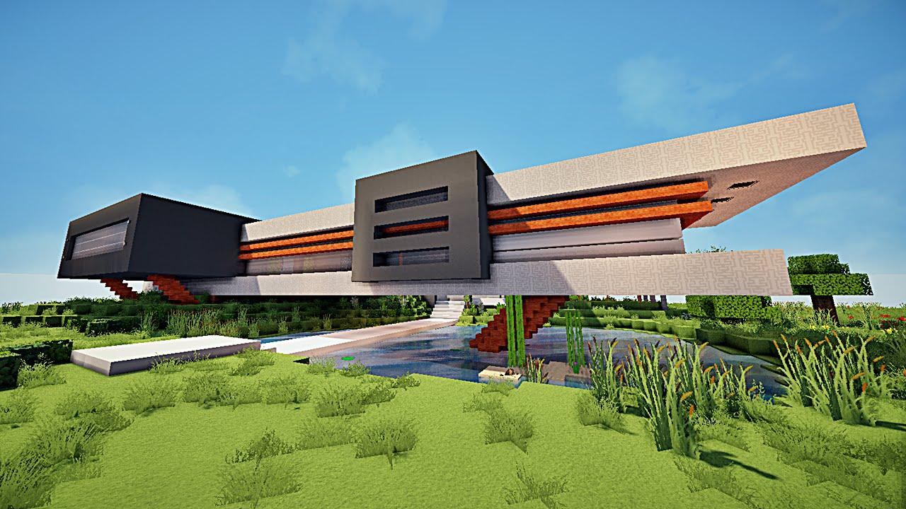 Minecraft maison moderne avec xroach 3 youtube - Video minecraft maison ...