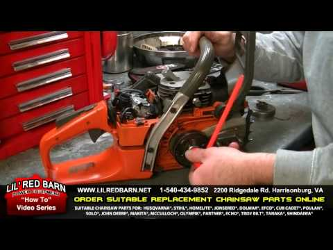 How to Replace a Sprocket on a Husqvarna 340. 345. 346. 350. 351. 353 Chainsaw