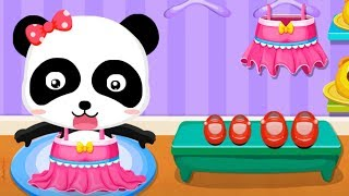 Baby Panda's Supermarket - Halloween Party Shopping + Fun Making Ice cream Games For Kids