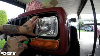 98 Jeep Cherokee XJ Headlight Conversion | Sealed Beam To H4 Housing (H6054)