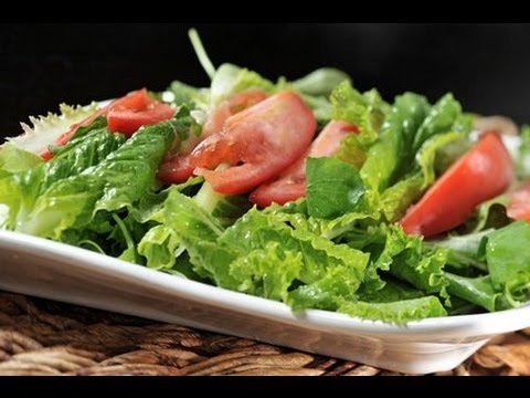 Ensalada de lechugas con aderezo de limón - Salad with Lemon Dressing