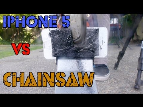 iPhone 5 vs Chainsaw: Destruction Test