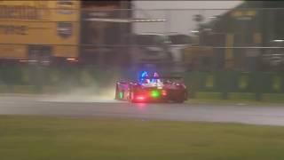 IMSA SportsCar Championship 2017. Rolex 24 At Daytona. Chris Cumming Crash