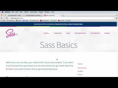 Sass & SCSS Tutorial for Beginners - 1 - Getting Started
