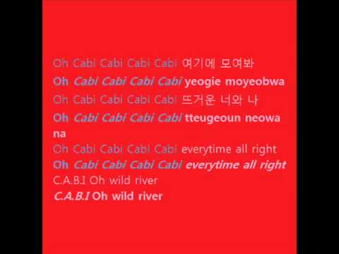 2pm & Snsd - Cabi Song (with Lyrics On Screen Hangul + Romanization) video