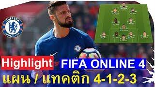 แผน / แทคติก FIFA ONLINE 4 (4-1-2-3) + ไฮไลท์การเล่น
