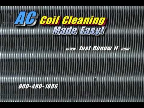 Steam Cleaner Blasts Clean Ac Coils  Steam Cleaner System In Action Air Conditioner Coil Cleaning