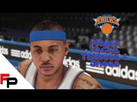 NBA 2K14 - New York Knicks - Player Faces. Tattoos and Shoes - PS4
