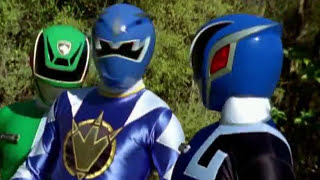 Power Rangers S.P.D. and Dino Thunder - Team Up Morph and Fight (Wormhole Episode)
