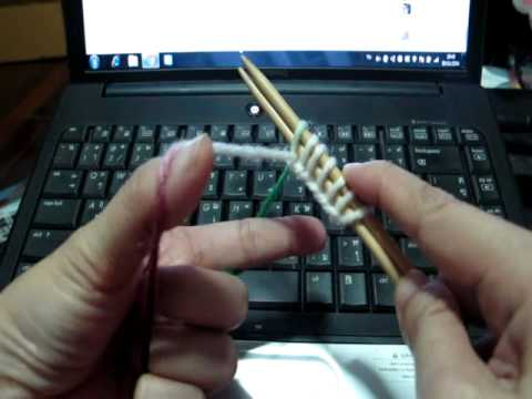 วิธีการถักนิตติ้งลายกระดูกงู (Brioche)