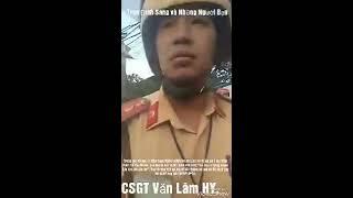 CSGT Văn Lâm,Hưng Yên,bị tố giữ phương tiện không biên bản, niêm phong, chợ búa với người giám sát