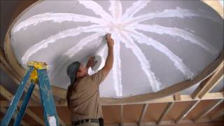 Dome Ceiling   Drywall Finishing  Part 6