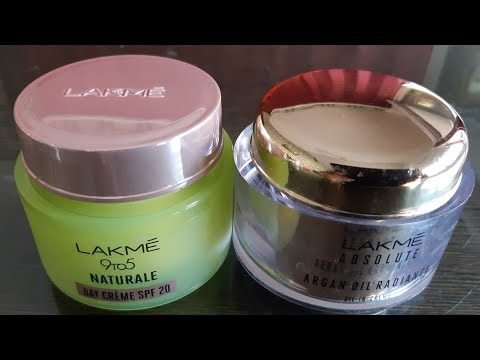 Lakme 9to5 naturale day cream spf20 vs lakme absolute argan oil radiance oil in cream spf30 review!
