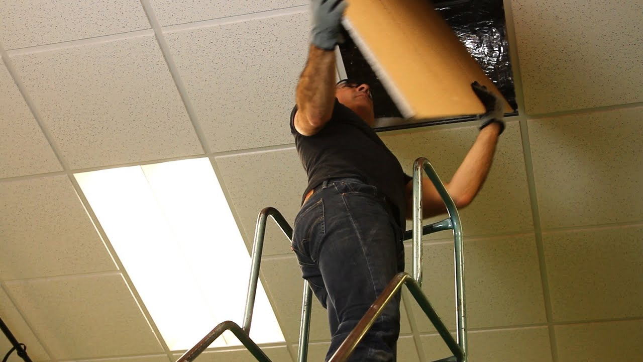 How to put ceiling tiles up