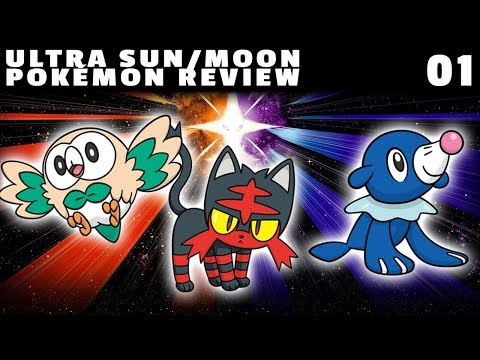 Ultra Sun/Moon Pokémon Review: Starter Pokémon (Rowlet, Litten, and Popplio)