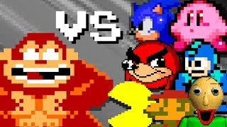 DONKEY KONG vs FAMOUS characters - season 1 (Official series)