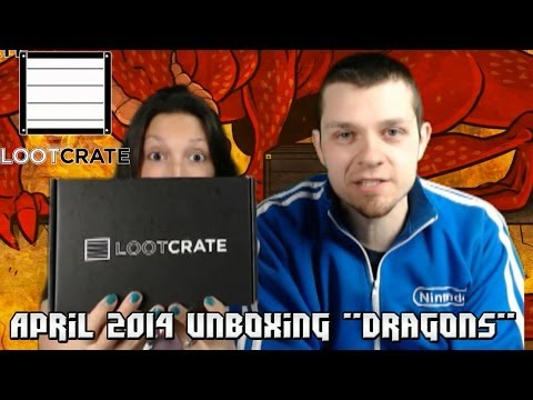 """Loot Crate:  April 2014 """"Dragons"""" Unboxing - Game of Thrones, Dragon Jerky, & More!"""