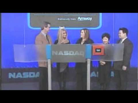 Miss America 2011 Teresa Scanlan rings the opening bell at NASDAQ