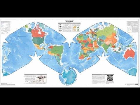 Cahill-Keyes World Political Map, Atlantic centered, 1/27 million