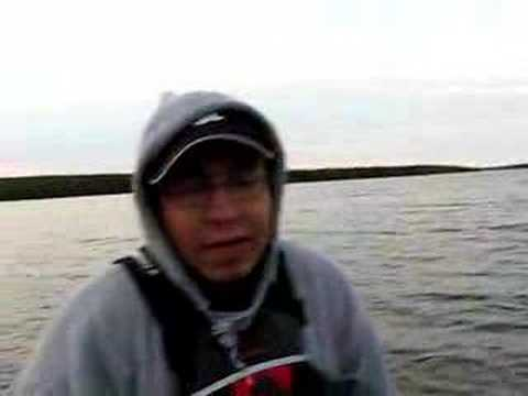 Waterbury Lake - Aboriginal Guide Filleting Fish