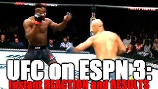 UFC on ESPN 3: Reaction and Results