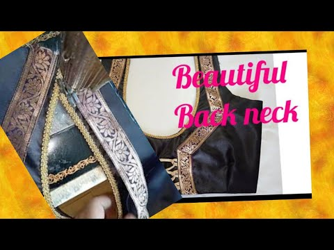 Very easy & beautiful back neck design