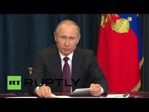 Russia: Putin welcomes completion of energy bridge to Crimea