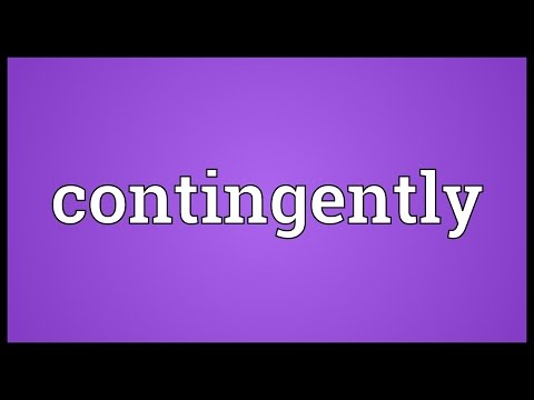 Header of contingently