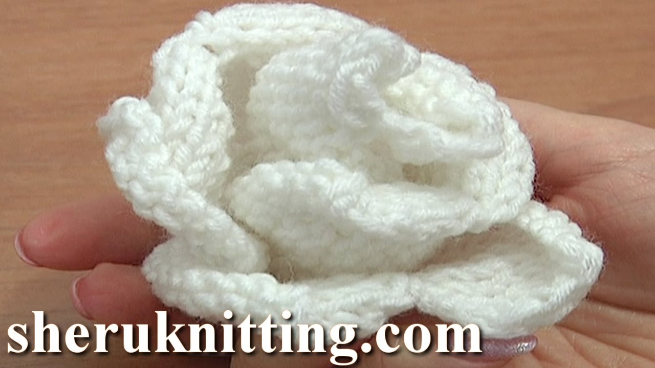 Easy Knitted Flowers Free Patterns : Knit Rose Flower Pattern Tutorial 13 Free Flower Knitting Patterns - YouTube
