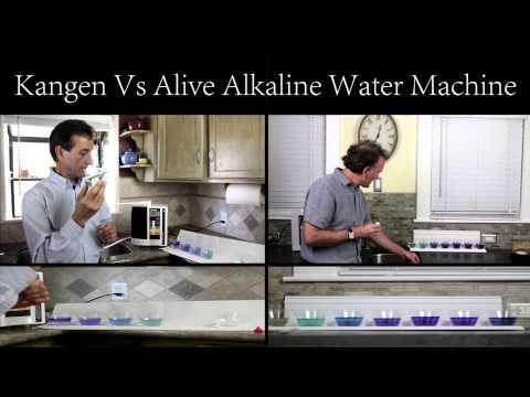 (Which Alkaline Water Machine to Buy?) Alive Ionizer vs Kangen Water Machines - pH Test #1