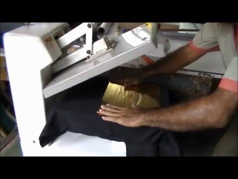 Como estampar camisas com Foil.