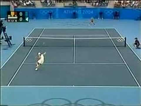 Justine Henin vs Anastasia Myskina Athens 2004 Semi 1/17