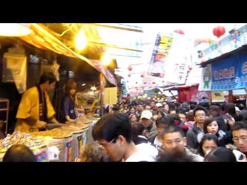 Dihua Street Market in Taipei before Chinese New Year