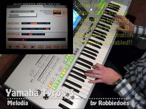 Yamaha Tyros 3: Melodia - Euro & US Organ Premium Pack