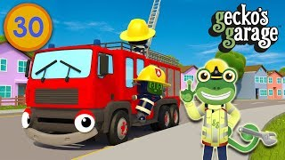 Gecko's Fire Truck Saves The Day | Gecko's Garage | Educational Videos For Toddlers | Truck Videos