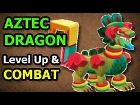 AZTEC DRAGON Dragon City Egg Level Up Fast and Combat Attacks Review