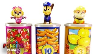 Learning Colors Video For Kids: Paw Patrol Skye & Chase Learn to Count One To Ten Counting Cans