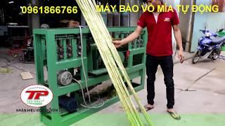 Máy bào vỏ mía tự động hoàn toàn/Automatic sugarcane peeling machine