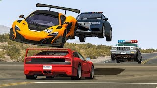 EPIC POLICE CHASES #22 - BeamNG Drive Crashes