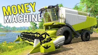 WE BOUGHT THE NEW MONEY MACHINE! This Giant Harvester Will Make Us Rich! - Farmer's Dynasty Gameplay