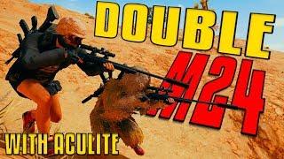 Double Suppressed M24   PUBG