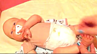 Playborn Baby Doll Taylor Changing and Feeding Video
