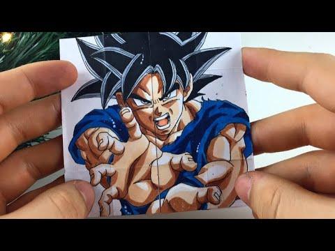 TUTORIAL Goku Transformations| Endless card DIY Gift